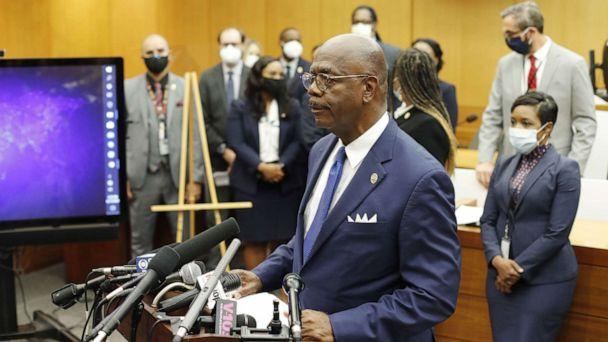 PHOTO: Fulton County District Attorney Paul L. Howard Jr. speaks during a press conference announcing charges against Atlanta Police Department officer Garrett Rolfe in the fatal police shooting of Rayshard Brooks in Atlanta, Georgia, June 17, 2020. (Erik S Lesser/EPA via Shutterstock)