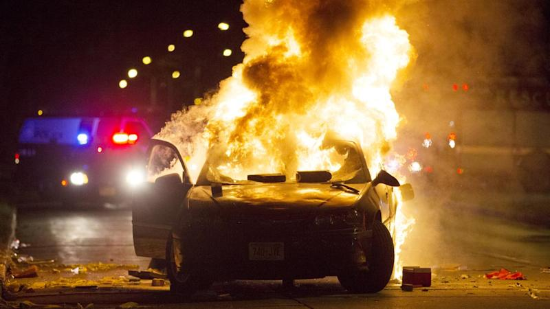 Violence erupted earlier this month in Milwaukee after a man fleeing a traffic stop was shot and killed by police. Authorities say video from the shooting will not be released during the investigation. (Photo: Calvin Mattheis/Milwaukee Journal-Sentinel via AP)