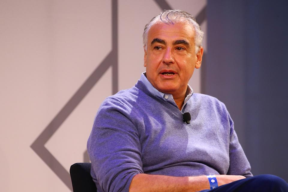 NEW YORK, NY - MAY 22:  (R-L) Milwaukee Bucks Co-Owner, Marc Lasry speak during the Leaders Sport Business Summit 2018 at the TimeCenter on May 22, 2018 in New York City.  (Photo by Mike Stobe/Getty Images for Leaders)