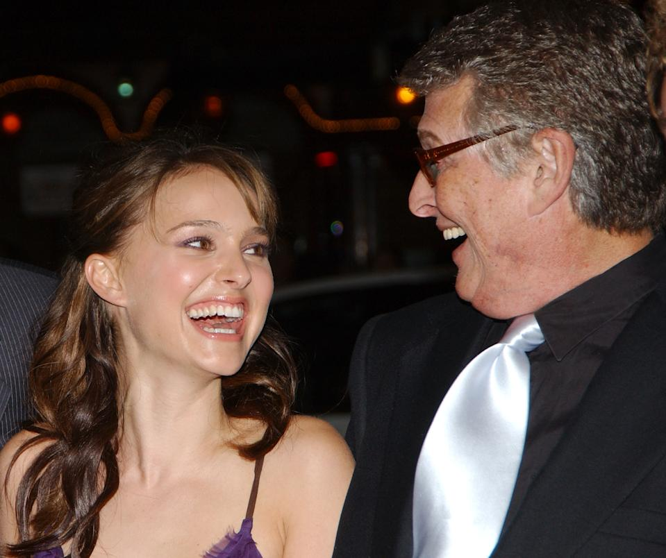 Natalie Portman and director Mike Nichols during