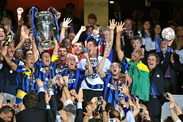 Jose Mourinho (right) enjoyed incredible success in Italian football with Inter Milan
