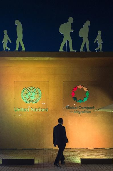Ahead of the conference in Marrakesh, rows over the accord have erupted in several European Union nations (AFP Photo/FADEL SENNA)