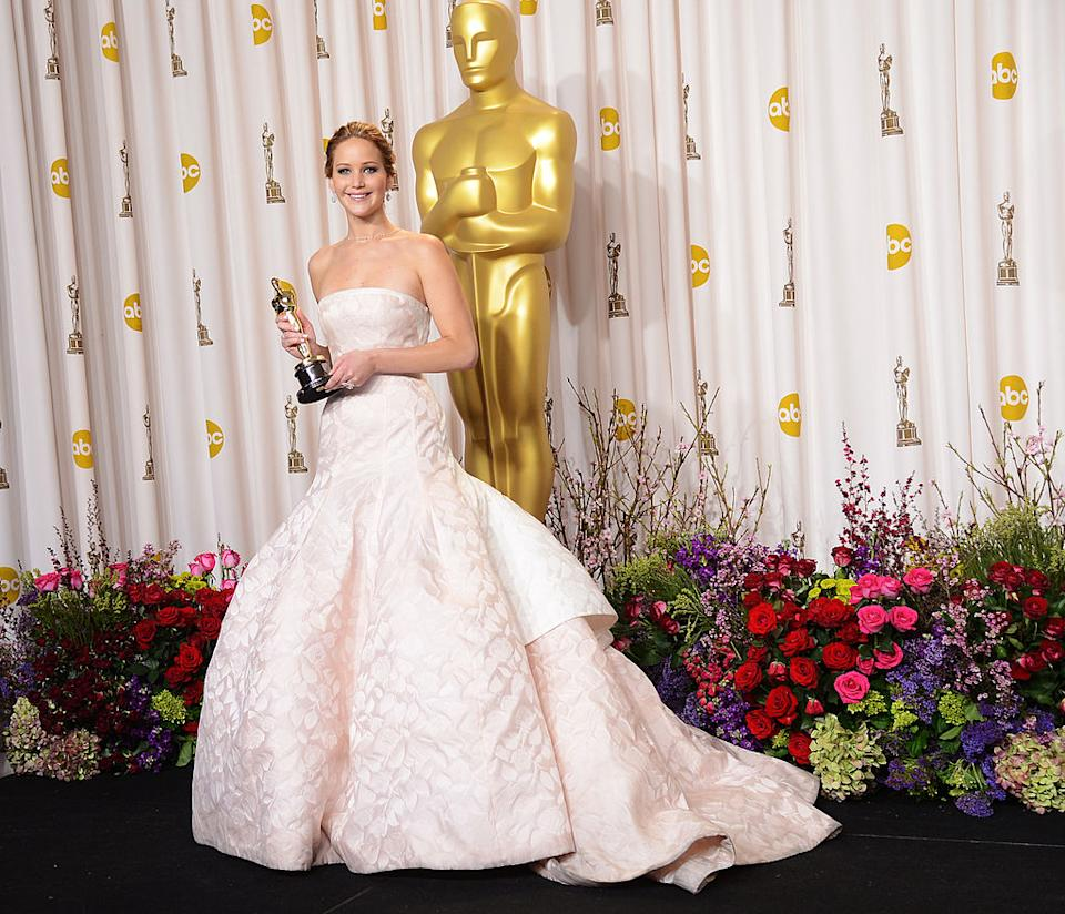 Jennifer Lawrence began her decade with a critically acclaimed and ultimately Oscar-nominated performance in 'Winter's Bone' (2010) and via further award recognition for roles in 'X-Men: First Class' and 'The Hunger Games', she headed back to the Oscars in 2012, with a gold statue in her pocket for 'Silver Linings Playbook'. But having stumbled as she climbed the steps to collect her gong, the actress also earned herself the reputation as being one of the world's most relatable stars. We love you Jennifer Lawrence. [Photo: Getty]
