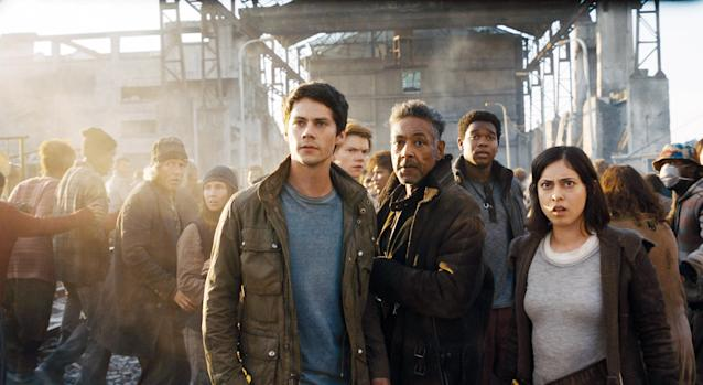 Dylan O'Brien, Giancarlo Esposito, Dexter Darden, and Rosa Salazar in <em>Maze Runner: The Death Cure</em> (Photo: 20th Century Fox/Courtesy Everett Collection)