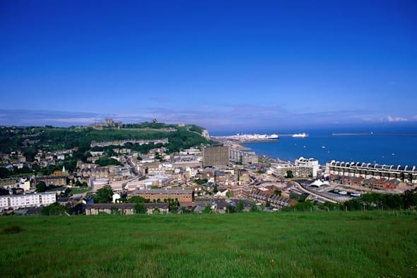 View over the town and port - Dover, Kent, England
