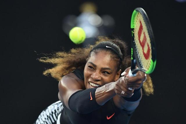 Serena Williams, seen here at the Australian Open in January, is reportedly set to get married in New Orleans this week (AFP Photo/PETER PARKS)