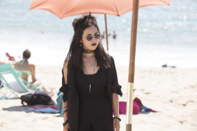 Lyrica Okano as Nico in <em>Marvel's Runaways</em>. (Photo: Paul Sarkis/Hulu)