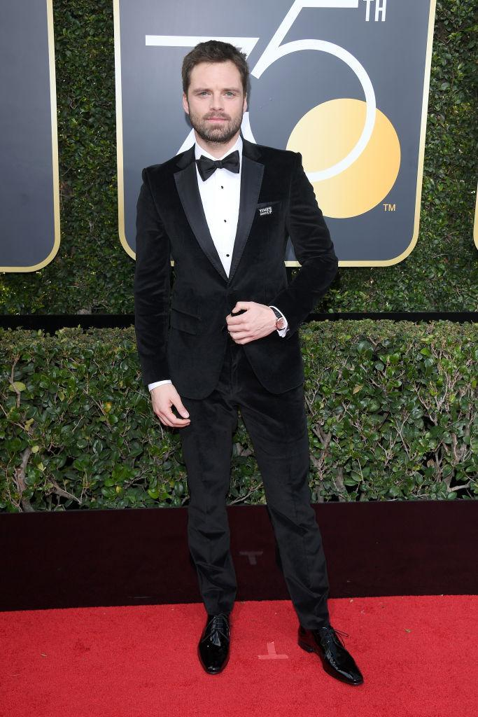 <p>Sebastian Stan, who appeared in <em>I, Tonya</em>, which won Best Motion Picture — Musical or Comedy, attends the 75th Annual Golden Globe Awards at the Beverly Hilton Hotel in Beverly Hills, Calif., on Jan. 7, 2018. (Photo: Steve Granitz/WireImage) </p>