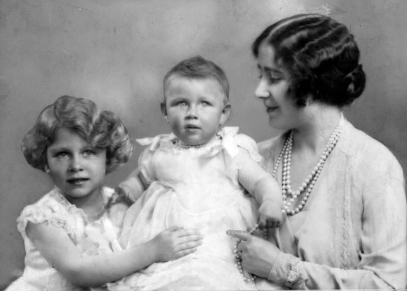 Queen Elizabeth, Princess Margaret and the Queen Mother around 1930