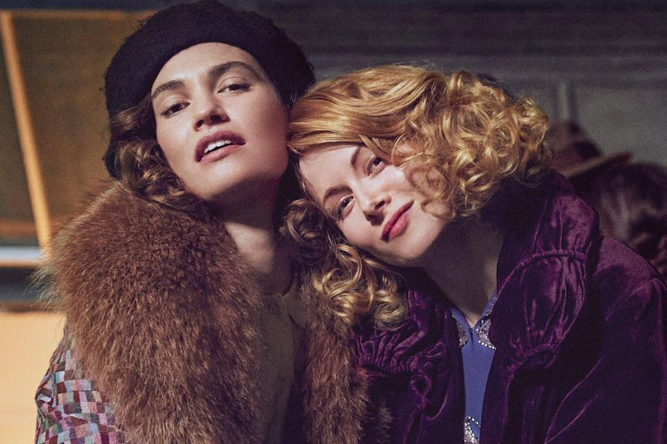 Lily James and Emily Beecham in The Pursuit of LoveTheodora Films Limited & Moonage Pictures Limited/Robert Viglasky