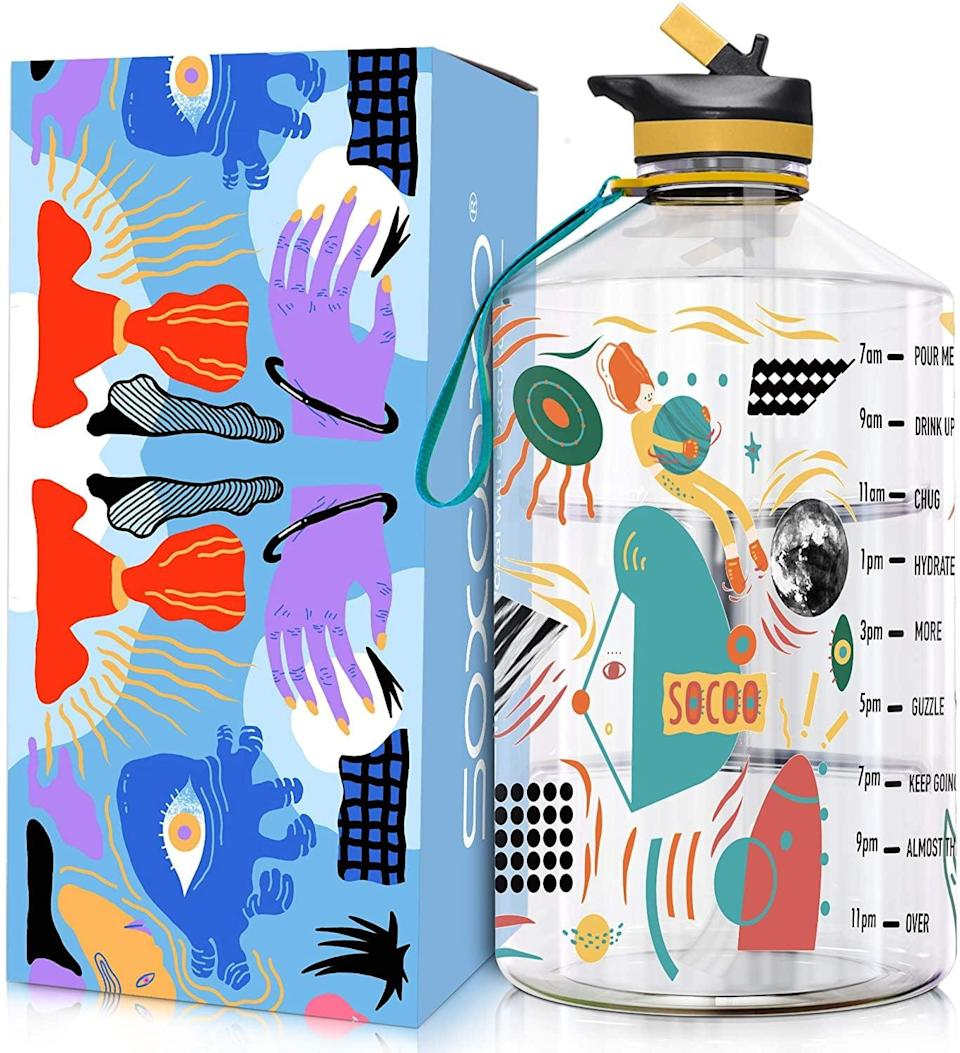 <p>Is it a water bottle or a work of art? It's impossible to tell the difference with this <span>Soxcoxo One Gallon Water Bottle With Straw</span> ($35)! It's so pretty, you can proudly display it on your kitchen counter when not in use.</p>