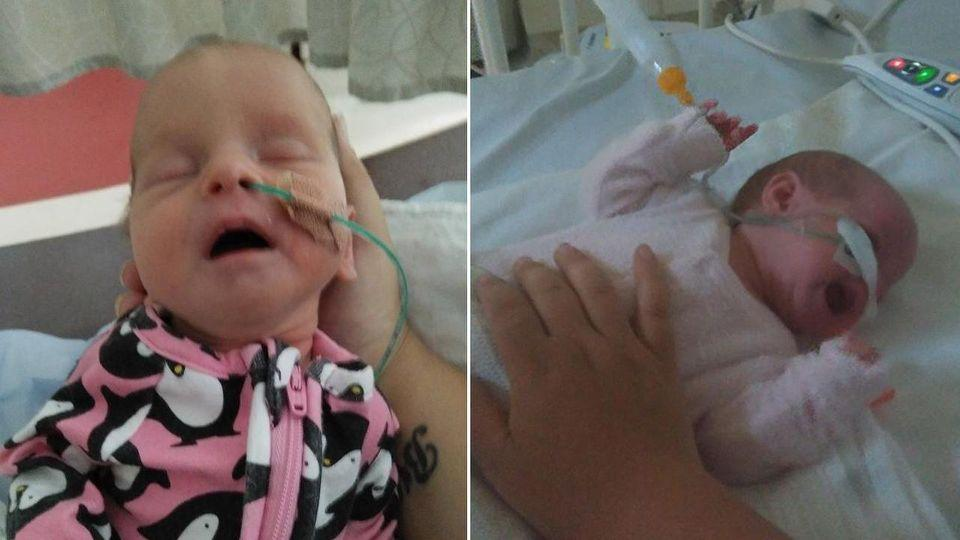 The girls have been in hospital since Thursday since contracting the virus. Photo: Facebook