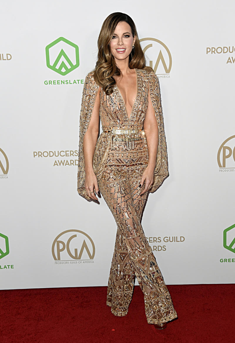Beckinsale at the 31st Annual Producers Guild Awards.(Photo by Frazer Harrison/Getty Images)