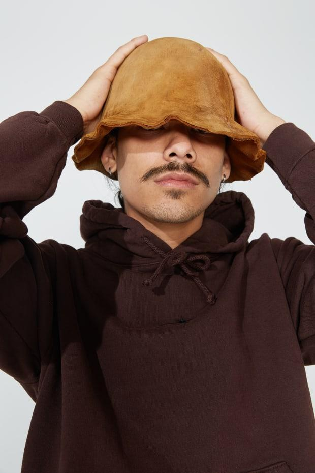 An Amadou hat made from a single mushroom (!) by Eden Power Corp in collaboration with a Transylvanian artisan.