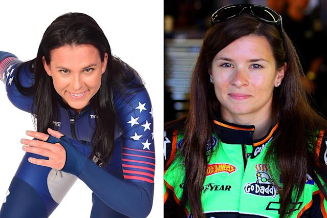 <p>Two-time Olympian Brittany Bowe and American pro-racing driver Danica Patrick share a love for speed—one on ice, the other on the race track. With her brown eyes and brunette locks, Bowe could be mistaken for Patrick's twin sister. </p>