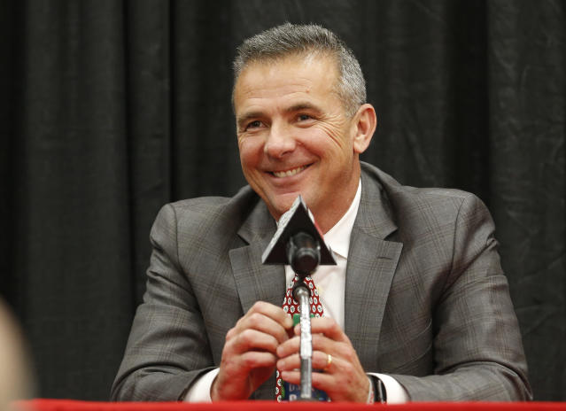 Urban Meyer has said he'd 'absolutely' be interested in taking the Cowboys head coaching position. (AP Photo/Jay LaPrete)