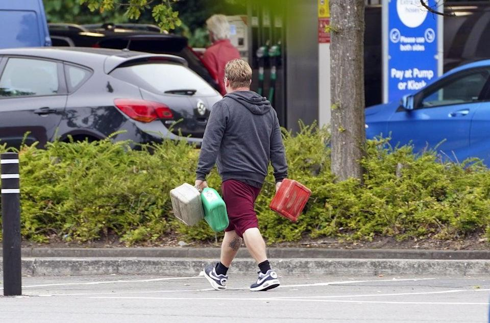 The fuel crisis has led to soaring demand for jerry cans and forms of transport that do not involve joining lengthy queues, new figures show (Steve Parsons/PA) (PA Wire)