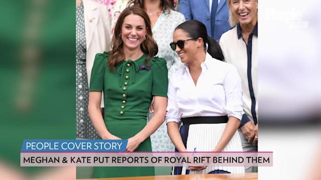 Megan and Kate's connection is putting reports of a royal rift behind them, especially after the charming moments they shared at Wimbledon