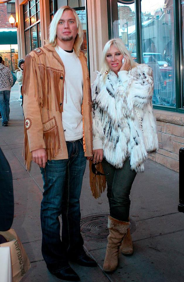 "When will Linda Hogan learn that real fur isn't fashionable? When will her boy toy learn that fringe is frightening? When will they both learn to hire stylists? G/<a href=""http://www.x17online.com"" target=""new"">X17 Online</a> - January 17, 2009"