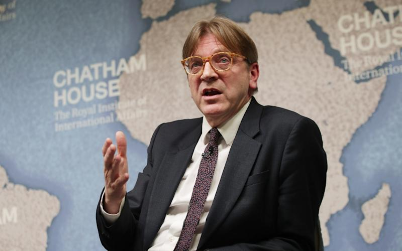 Guy Verhofstadt is the European Parliament's chief Brexit negotiator - Credit: Yui Mok /PA