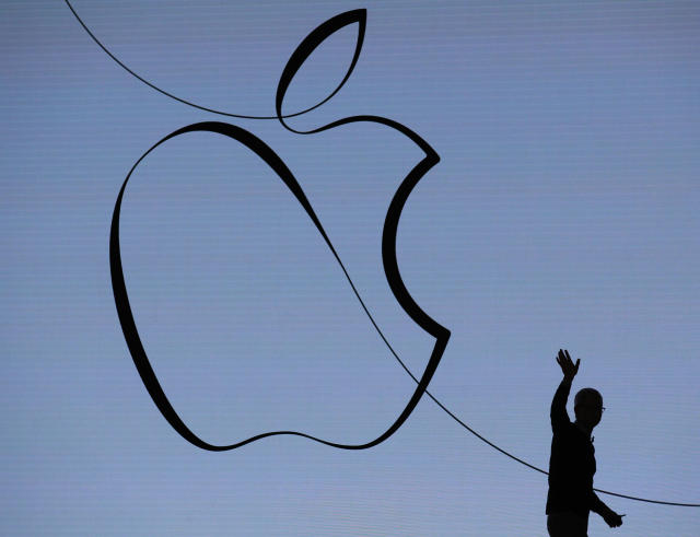 Earnings from Apple after the market close on Tuesday will be one of the week's highlights for investors.  (AFP | JIM YOUNG)