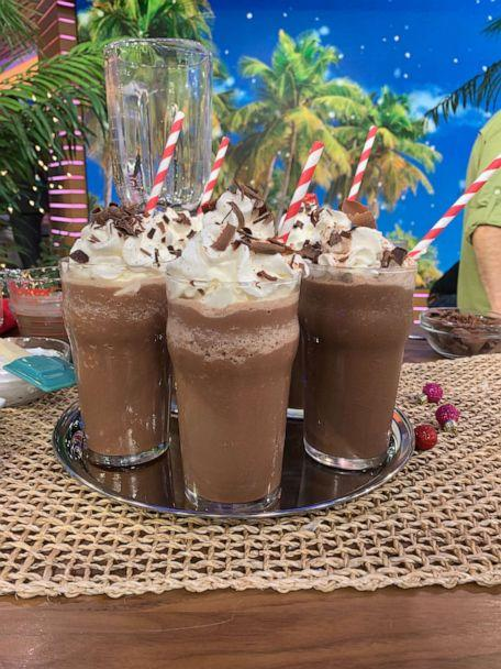 PHOTO: Frozen hot chocolate made for a Christmas in July party. (ABC News)
