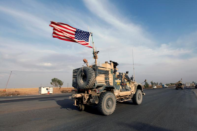 A convoy of U.S. vehicles is seen after withdrawing from northern Syria, in Erbil, Iraq October 21, 2019. (Photo: Azad Lashkari/Reuters)