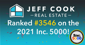 Jeff Cook Real Estate has ranked #3,546 on this year's Inc. 5000.