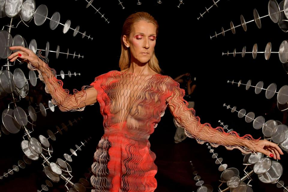 """Singer Celine Dion has well and truly reinvented herself as everybody's favourite haute couture queen, establishing herself as one of the bravest style icons on the scene today. Whether she's shutting down the 2019 Met Gala pink carpet in a dandelion headdress or weeping in the front row at Valentino's Haute Couture presentation, nobody loves fashion more than Celine Dion. Especially when it comes to her shoe collection.Dion revealed during a carpool karaoke segment on The Late Late Show with James Corden that she had """"maybe"""" ten thousand pairs of shoes, which she keeps in a warehouse in Vegas. The singer, who has a home in Florida, also revealed that her shoe closet there was a Clueless fantasy come to life as she actually has a computerised system to help her locate her favourite Manolo Blahniks.Dion said, """"You know what? In my house in Florida, I had a system where it was computerised and I would press [a button]. And there would be these doors that opened, and they were all [sorted] by colours.""""""""So I would press another button and they would turn [and revolve on shelves] in front of me.""""""""There was a whole system...and I could press stop and get the shoes I wanted,"""" she continued.Dion is a woman who doesn't do things by halves, however, as her futuristic shoe cupboard also featured a few sparkling details. She continued, """"In front, there was like a counter to put [the shoes down] and the counter was built up about [five inches thick] of glass. And it was all broken diamonds.""""She later clarified they were """"not real"""" diamonds, as she didn't want people to think she was """"loco"""".After her Met Gala outfit became a hit with both keen eyed fashion fans and meme-loving Twitter users, it was revealed that her Oscar de la Renta outfit was inspired by the Judy Garland film Ziegfeld Girl.Despite the fact that the headpiece weighed 22 pounds according to Vogue, Dion was committed to the look and said, """"Everybody who was part of it put their hearts into it. It was to make it so"""