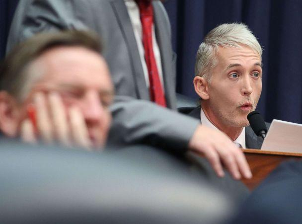 PHOTO: Rep. Trey Gowdy questions Deputy Assistant FBI Director Peter Strzok during a joint committee hearing in the Rayburn House Office Building, July 12, 2018, in Washington. (Mark Wilson/Getty Images)