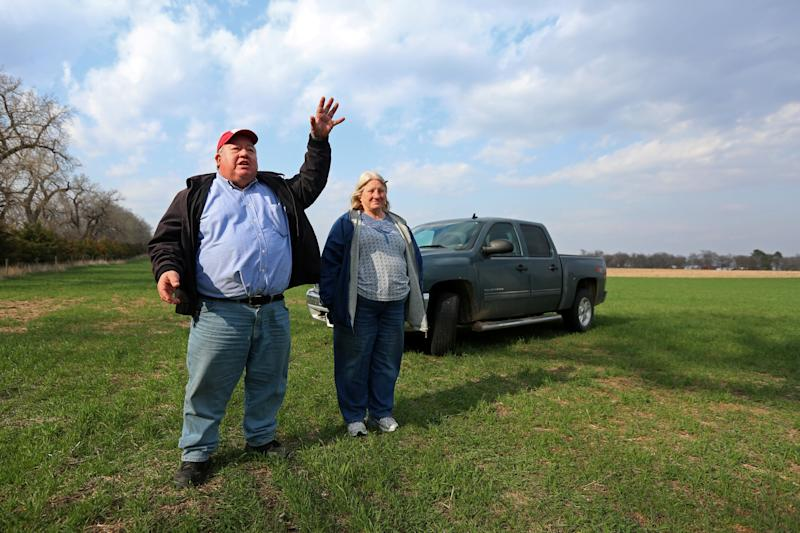 Art and Helen Tanderup at their farm in Neligh, Nebraska. The farm has been in Helen Tanderup's family for more than 100 years. (Lane Hickenbottom / Reuters)