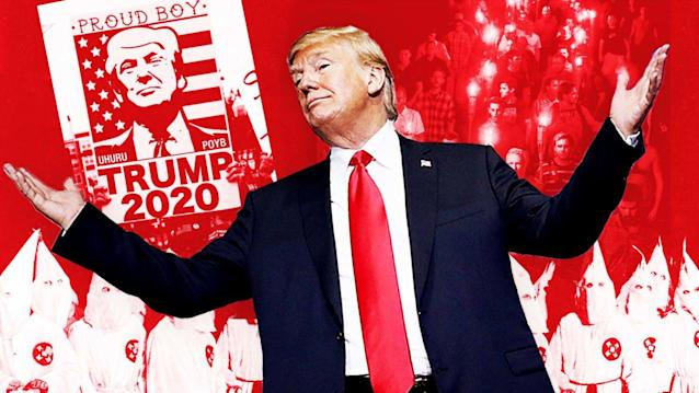 """Photo Illustration by The Daily Beast/Photo Getty""""If you're not happy, you can leave.""""Those are the words of an American president, spoken from the steps of the White House this morning. Even for someone like Donald Trump, a man with a long history of bigotry and racism, the scene was breathtaking. This is who he is, and who his supporters are. """"If you're not happy in the U.S., if you're complaining all the time—very simply,"""" he said. """"You can leave."""" Trump Is a Racist. If You Still Support Him, So Are You.No one expected the president to walk back the racist tirade he unleashed on social media over the weekend. After three years of Trump, no one believed that congressional Republicans would ever firmly and unambiguously denounce his latest string of bigoted, xenophobic statements. Or evangelical Christians. Or conservatives. Or White House staffers. That's not who they are. They are standing with this president because they either agree with him or are content that their own political power is fueled by white supremacy. The few who spoke at all parsed words until they were drained of all meaning. And then, there were the politicians like Sen. Lindsay Graham and cable news pundits like Fox News's Brit Hume and Katie Pavlich, who audaciously cast aspersions on those who dared to speak up in defense of the common good, those who openly celebrate the inherent value of embracing diversity. They are willing to forego the promise of this nation in order to hitch their wagons to a hate-mongering, chest-thumping demagogue. While the president's remarks, laced with bravado and mendacity, were pointed at four freshmen members of Congress—all of whom are women of color— on Monday Trump was speaking to a nation. He stood before a bank of cameras and told us plainly and without pause that he meant every deplorable thing he'd tweeted and, that if you don't like it, get out. """"Does it concern you that many people saw your tweet as racist?"""" a reporter asked. Trump, who appears incap"""