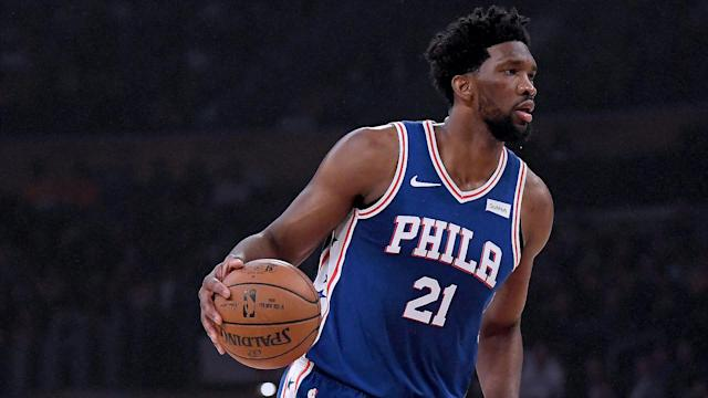 Looking at his phone while on the bench during the NBA playoff loss to Brooklyn Nets has seen Amir Johnson fined by the Philadelphia 76ers.