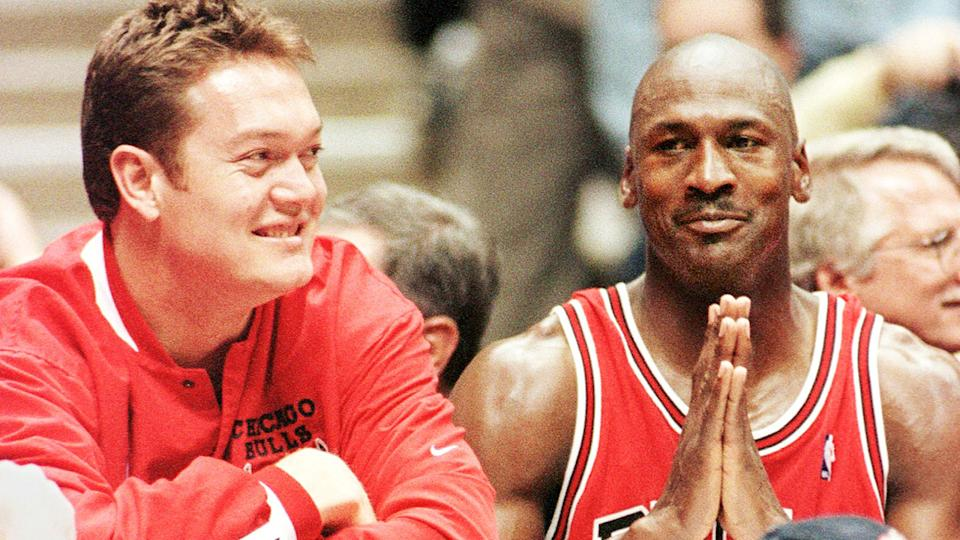 Luc Longley was the starting centre for the Chicago Bulls when Michael Jordan returned to the NBA in 1995. (STAN HONDA/AFP via Getty Images)