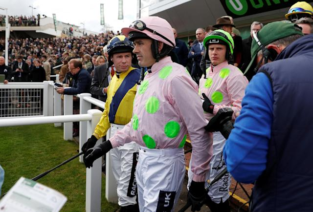 Horse Racing - Cheltenham Festival - Cheltenham Racecourse, Cheltenham, Britain - March 13, 2018 Jockey Ruby Walsh looks on before the 13:30 Sky Bet Supreme Novices' Hurdle Action Images via Reuters/Andrew Boyers
