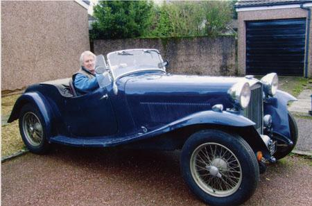 Martyn reunited with his Salmson