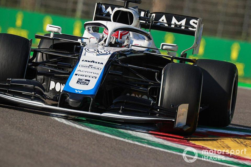 """George Russell, Williams FW43<span class=""""copyright"""">Steven Tee / Motorsport Images</span>"""