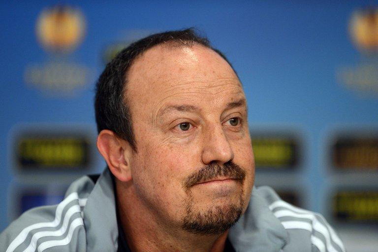 Chelsea interim coach Rafael Benitez gives a press conference on March 6, 2013, the eve of the Europa League match with Steaua Bucharest. Benitez has a selection dilemma regarding skipper John Terry, who is returning from a knee injury, while Gary Cahill is getting over a virus, leaving Branislav Ivanovic and David Luiz as central defensive partners