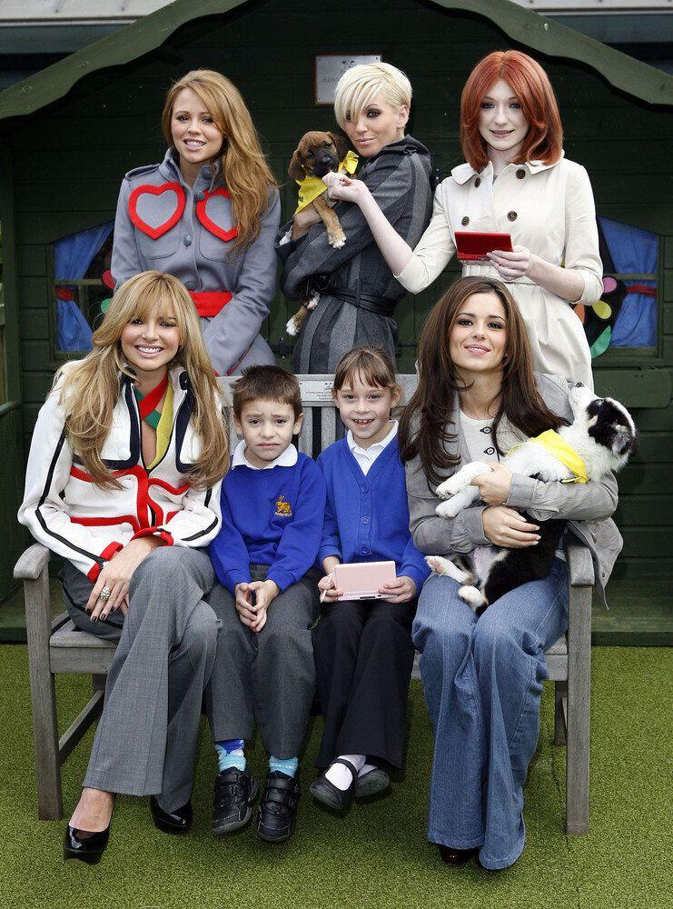 Girls Aloud launch the Dogs Trust Education Initiative, with Nintendo, at The Dog's Trust in Uxbridge, London.