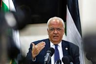 Saeb Erekat, here photographed in November 2019, was a long-time Palestinian chief negotiator and prominent political figure who shepherded Palestinian relations with world powers