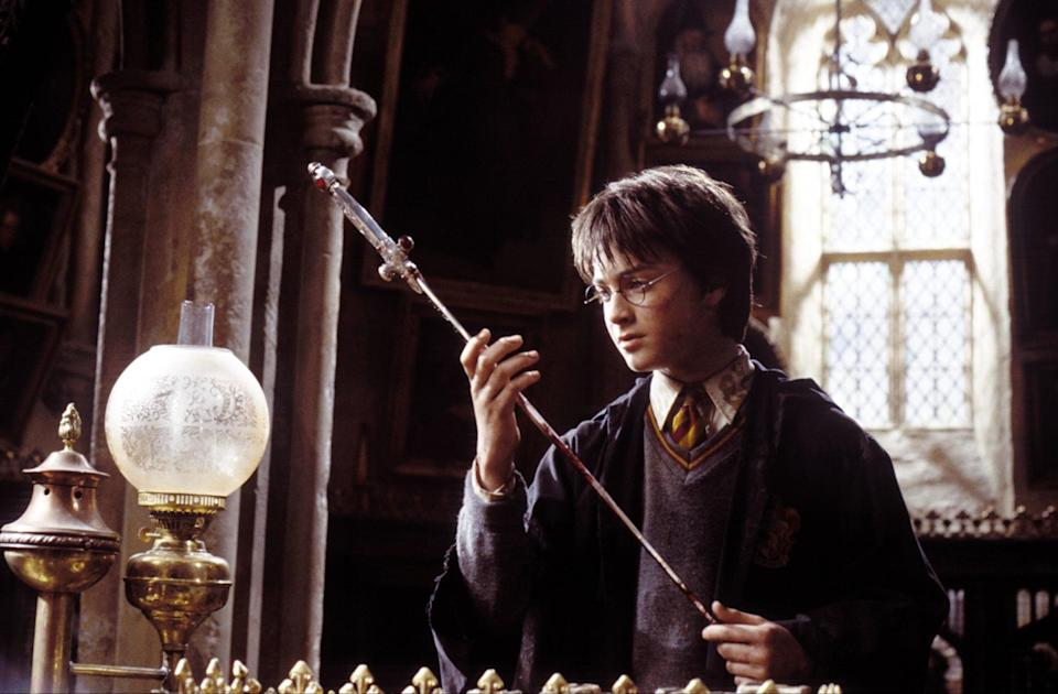 """<p><strong>HBO Max's Description:</strong> """"Young wizard Harry Potter and his friends, Ron and Hermione, face new challenges during their second year at Hogwarts School of Witchcraft and Wizardry as they try to discover a dark force that is terrorizing the school.""""</p> <p><a href=""""https://play.hbomax.com/feature/urn:hbo:feature:GXssMIAadRcNMvwEAAAA7"""" class=""""link rapid-noclick-resp"""" rel=""""nofollow noopener"""" target=""""_blank"""" data-ylk=""""slk:Watch Harry Potter and the Chamber of Secrets on HBO Max"""">Watch <strong>Harry Potter and the Chamber of Secrets</strong> on HBO Max</a> before it leaves the service in September.</p>"""
