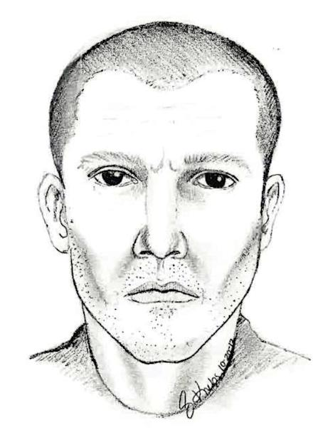 FILE - This undated file photo provided by the Michigan State Police shows a drawing of a man suspected in a series of shootings that began Oct. 16 over a four-county area of southeastern Michigan and resulted in at least one injury. Authorities said Tuesday, Nov. 6, 2012 that a person of interest has been taken into custody in connection with the shootings. (AP Photo/Michigan State Police, File)