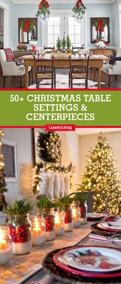 "<p>Save these stunning Christmas table settings by pinning this image, and follow <i>Country Living </i>on <a rel=""nofollow"" href=""https://www.pinterest.com/countryliving/"">Pinterest</a> for more holiday inspiration.<span></span><span></span> </p>"