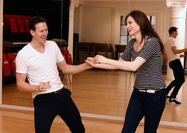 Brendan Cole and Sophie Ellis-Bextor pictured during Strictly rehearsals in 2013 (Photo: David Fisher/Shutterstock)