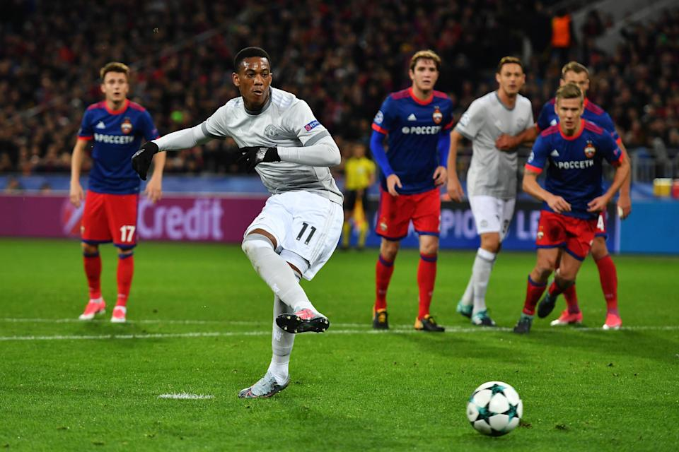 Anthony Martial could be the latest in a growing list of United players to miss out this weekend against Crystal Palace