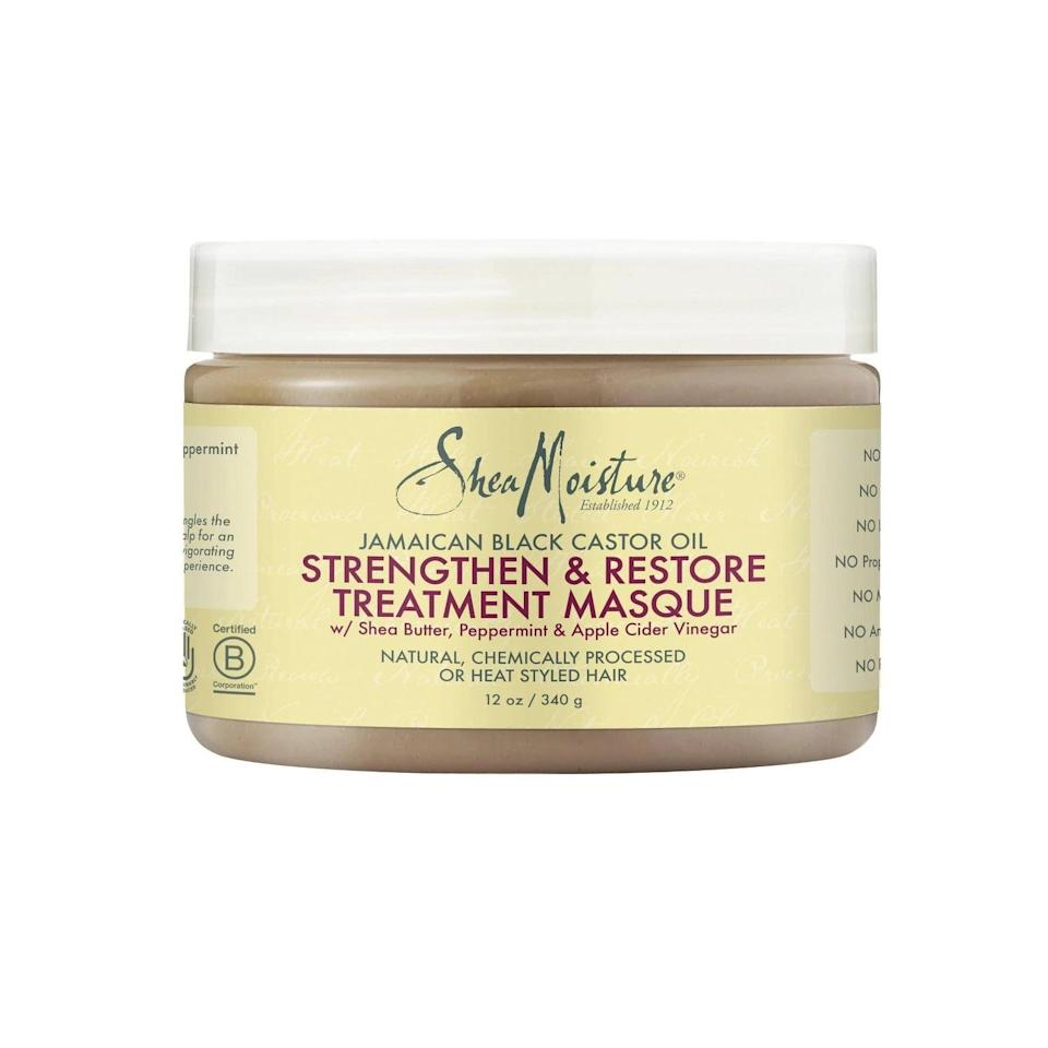"""<p>""""My hair is the healthiest it's been in a <em>long</em> and it mostly has to do with the fact that I've actually used the extra time I've spent at home to carve out a regular wash and care routine for myself. </p> <p>""""My hair has always been pretty dry, so I make sure to wash and deep condition once a week now, and I've even started making my own hair mask using a few scoops of <a href=""""https://www.popsugar.com/buy/SheaMoisture-Jamaican-Black-Castor-Oil-Strengthen-amp-Restore-Treatment-Masque-557366?p_name=SheaMoisture%20Jamaican%20Black%20Castor%20Oil%20Strengthen%20%26amp%3B%20Restore%20Treatment%20Masque&retailer=target.com&pid=557366&price=11&evar1=bella%3Aus&evar9=47612601&evar98=https%3A%2F%2Fwww.popsugar.com%2Fbeauty%2Fphoto-gallery%2F47612601%2Fimage%2F47612810%2FSheaMoisture-Jamaican-Black-Castor-Oil-Strengthen-Restore-Treatment-Masque&list1=beauty%20products%2Cbeauty%20shopping&prop13=mobile&pdata=1"""" class=""""link rapid-noclick-resp"""" rel=""""nofollow noopener"""" target=""""_blank"""" data-ylk=""""slk:SheaMoisture Jamaican Black Castor Oil Strengthen &amp; Restore Treatment Masque"""">SheaMoisture Jamaican Black Castor Oil Strengthen &amp; Restore Treatment Masque</a> ($11), olive oil, honey, and a whole banana. It's made my hair feel so soft and moisturized, and I've really been able to see so much growth over the last few months."""" - Danielle Jackson, assistant beauty editor</p>"""