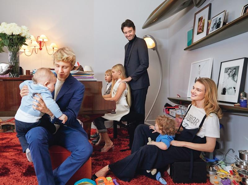 Natalia Vodianova and Antoine Arnault's duplex apartment in Paris is predictably over-the-top, though the two definitely do have a need for space: It's also home of their five children, who range in age from toddlers to teens.