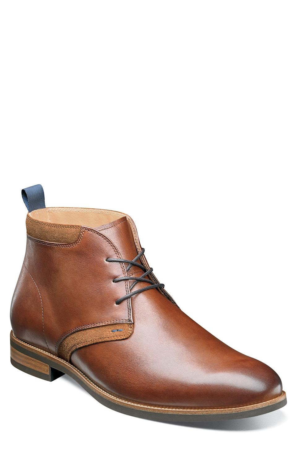 """<p><strong>FLORSHEIM</strong></p><p>nordstrom.com</p><p><strong>$124.95</strong></p><p><a href=""""https://go.redirectingat.com?id=74968X1596630&url=https%3A%2F%2Fshop.nordstrom.com%2Fs%2Fflorsheim-uptown-chukka-boot-men%2F5146108&sref=https%3A%2F%2Fwww.womenshealthmag.com%2Flife%2Fg33501922%2Funique-gift-ideas-for-men%2F"""" rel=""""nofollow noopener"""" target=""""_blank"""" data-ylk=""""slk:Shop Now"""" class=""""link rapid-noclick-resp"""">Shop Now</a></p><p>These boots are designed to last, so the lucky recipient will think of you for many years to come. Textured leather, Comfortech traction sole and Ortholite cushioning makes these boots comfy and protected from the elements. </p>"""