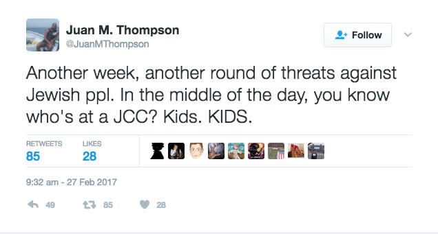 Juan Thompson Tweet