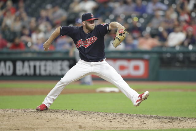 "Cody Allen will try to bounce back with the <a class=""link rapid-noclick-resp"" href=""/mlb/teams/la-angels/"" data-ylk=""slk:Angels"">Angels</a>. (AP Photo)"